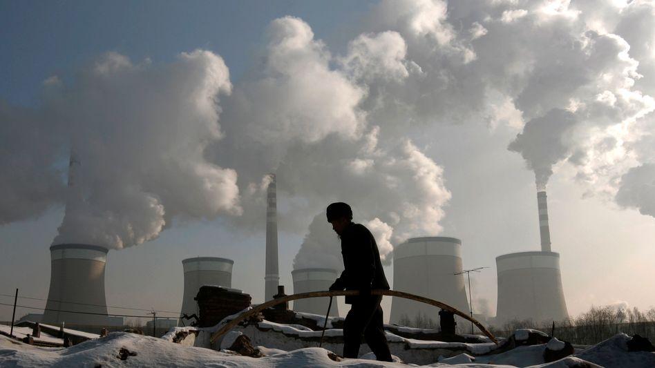Ein Kohlekraftwerk in den Vororten von Datong, Provinz Shanxi: China ist der größte Kohlendioxidproduzent der Welt