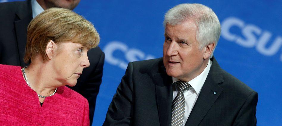 Unionschefs Merkel, Seehofer