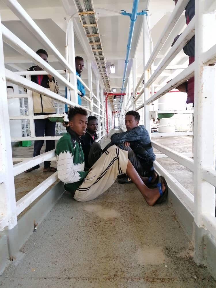 MV Talia/ Flüchtlinge/ Bilder von Kapitän Mohammad Shaaban