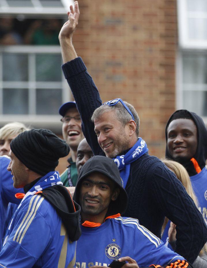 Fußballfan und Besitzer des FC Chelsea Roman Abramowitsch