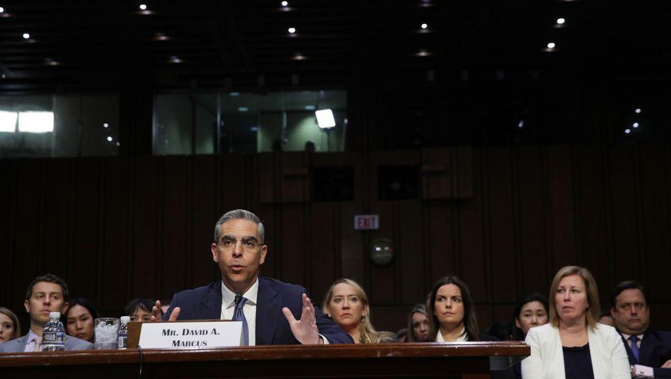 Facebooks Libra-Chef David Marcus während der Kongress-Anhörungen