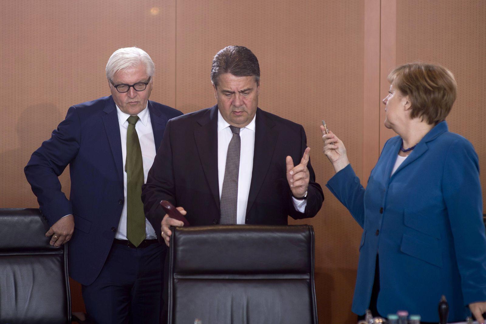 EINMALIGE VERWENDUNG Merkel / Steinmeier / Gabriel