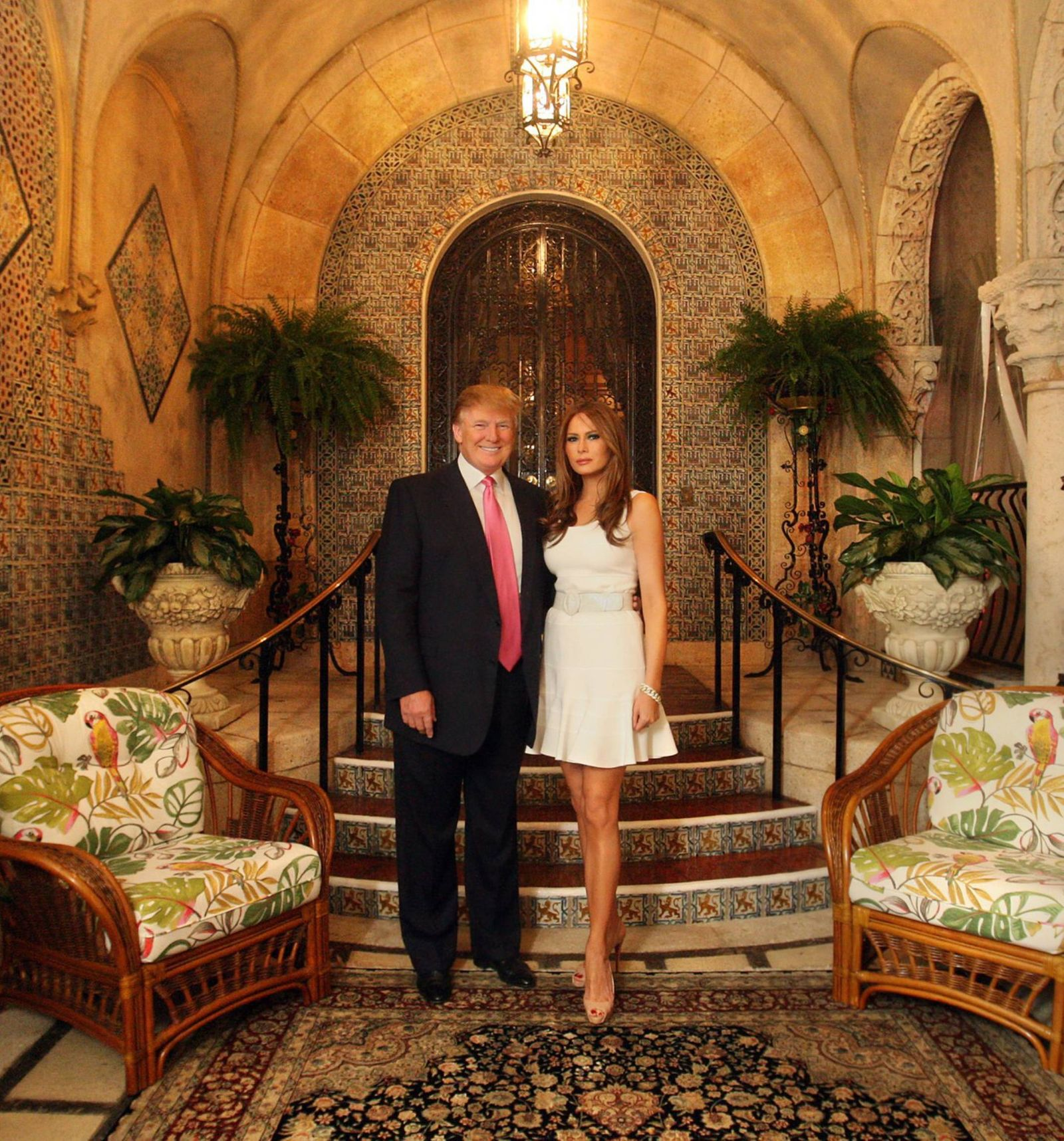 Themen der Woche November 9 2016 Florida U S Donald and Melania Trump pose for a photo in fro
