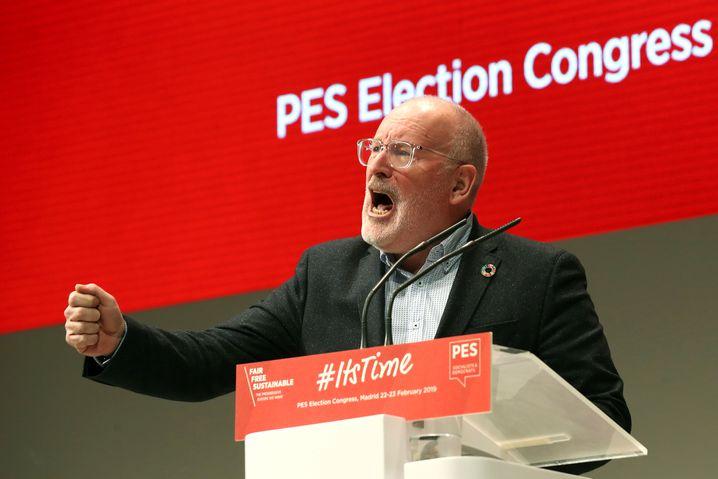 Frans Timmermans, sozialdemokratischer Spitzenkandidat