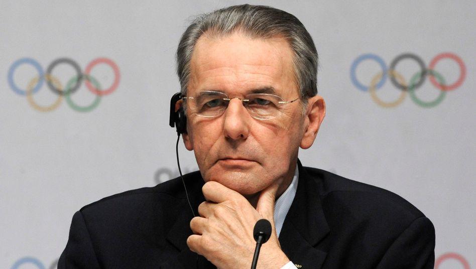 IOC-Präsident Rogge: Ohne Gegenkandidaten angetreten