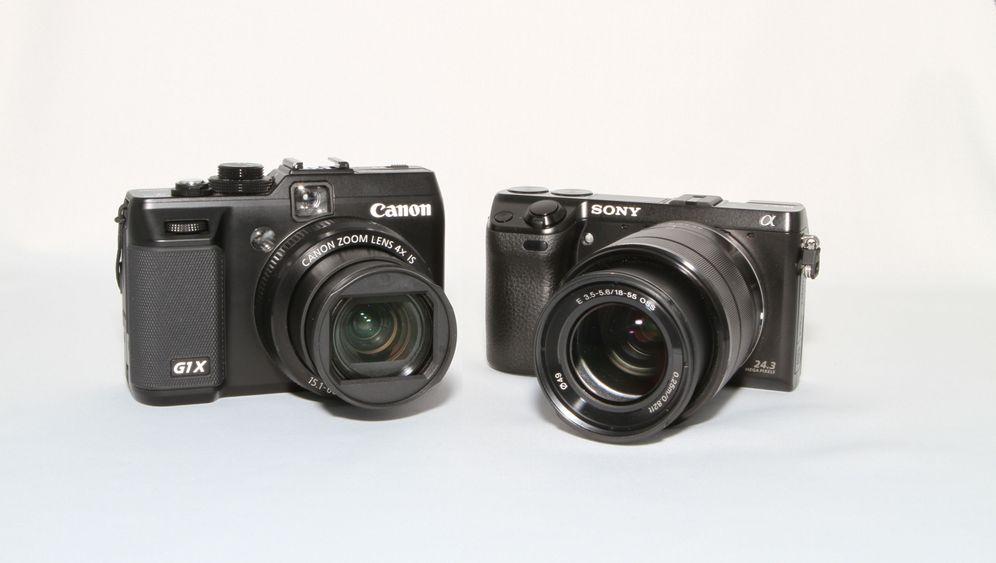 Kompakte Digitalkameras: Sony NEX-7 und Canon G1 X