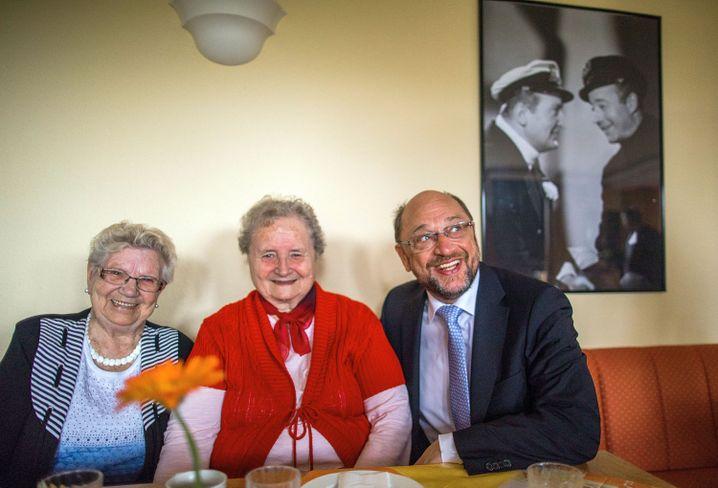 Martin Schulz in einem Altenheim in Pasewalk (im Mai 2017)