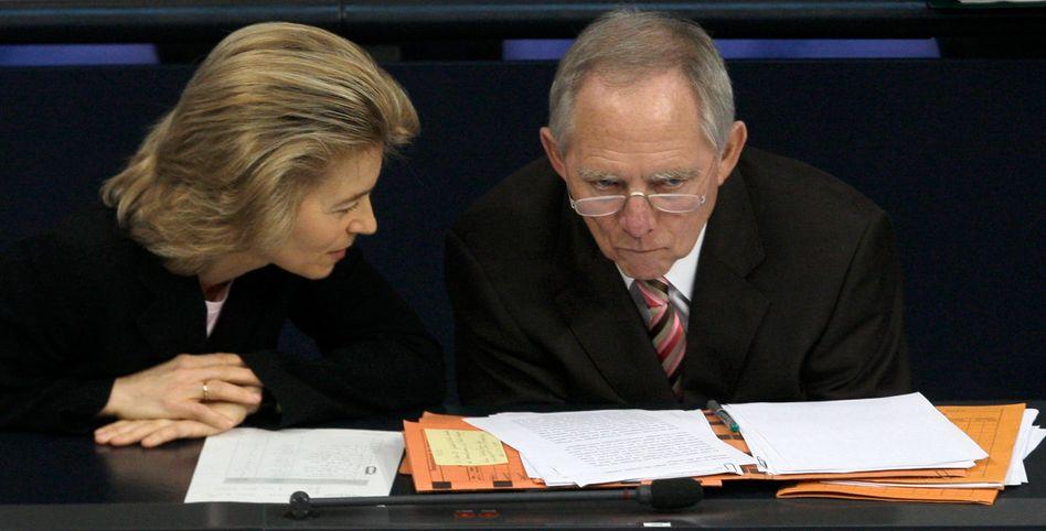 Ursula von der Leyen und Wolfgang Schäuble: Minister mit Mission