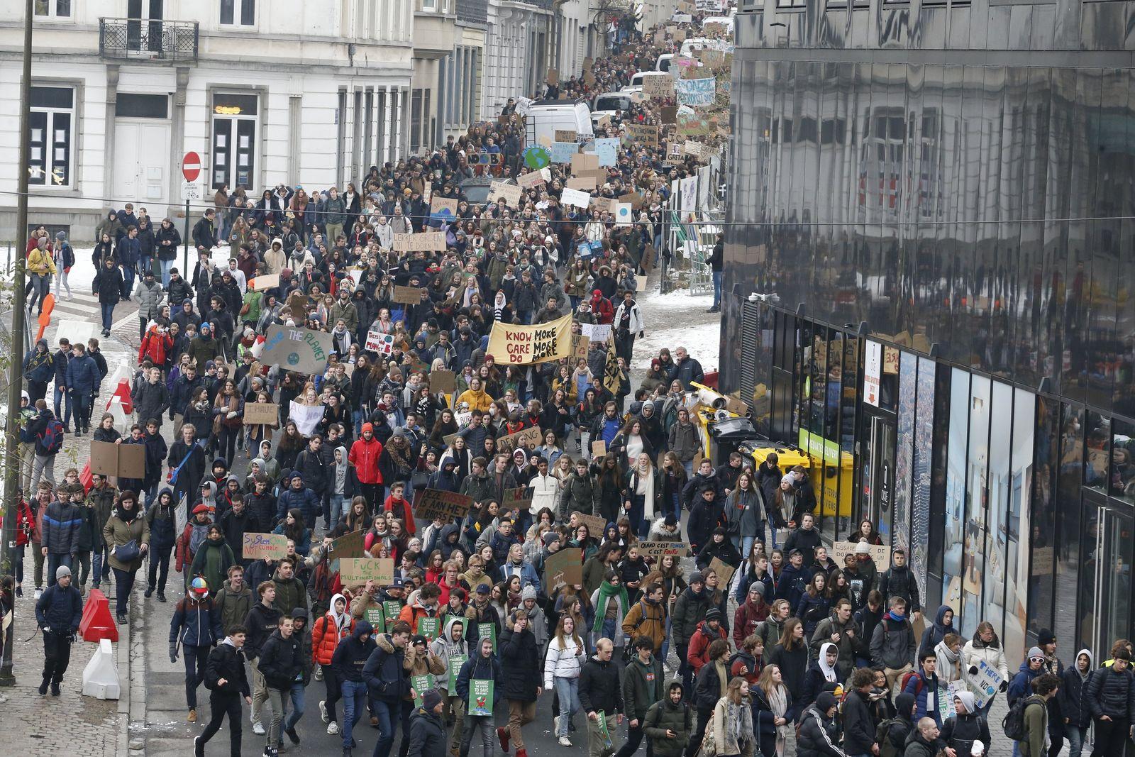 Brüssel Schulstreik
