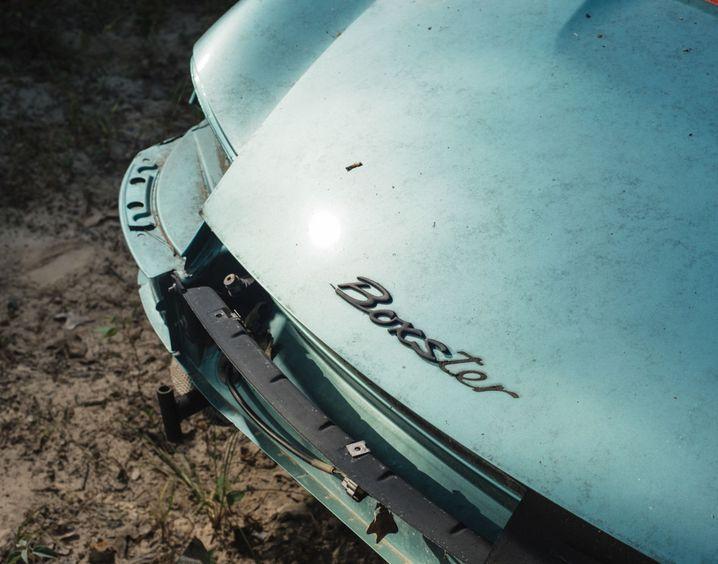 Der Schriftzug ist noch da - ein Porsche Boxster aus Woods Sammlung