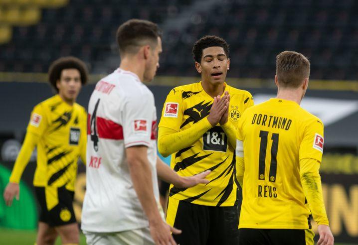 Jude Bellingham schien ratlos: Der BVB verlor gegen Stuttgart