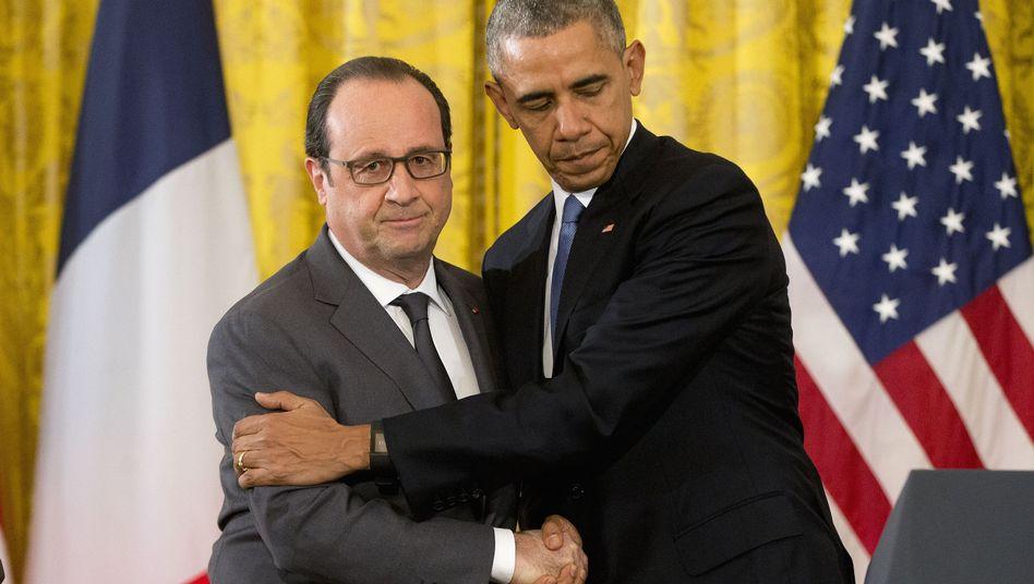"""Anti-Terror-Strategie: Obama verspricht Frankreich """"totale Solidarität"""""""