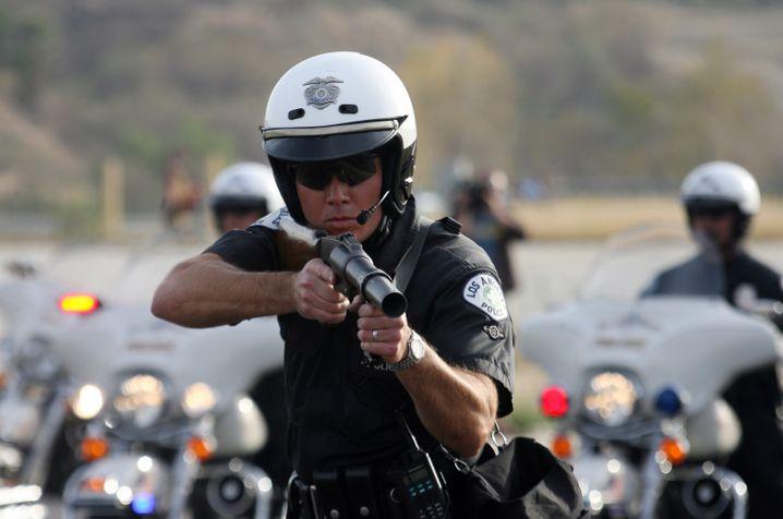 Polizisten im Einsatz in Los Angeles