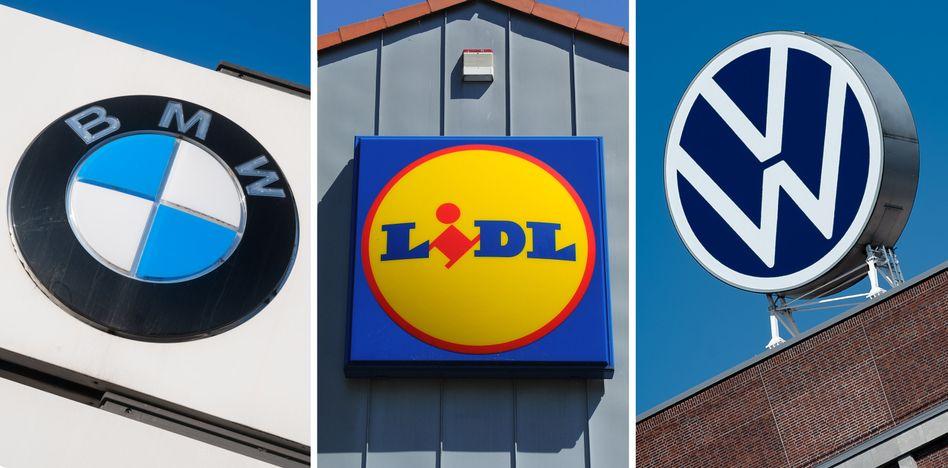 BMW, Lidl und VW: weltweit unter den Top 10