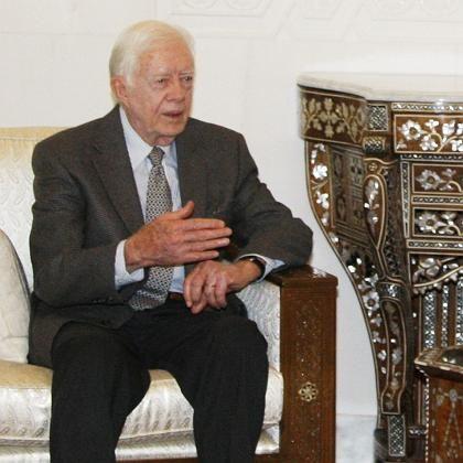 Jimmy Carter in Damaskus: Gedankenaustausch mit der Hamas