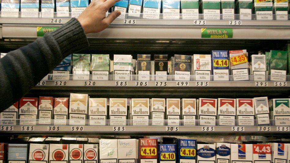 Zigarettenverkauf in London: Demnächst kleiner und weniger bunt?