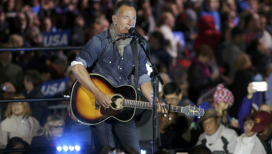 Bruce Springsteen - hier auf einer Wahlkampfveranstaltung für Hillary.