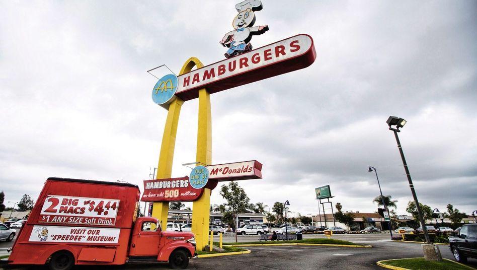 Älteste noch existierende McDonald's-Filiale in Downey, Kalifornien