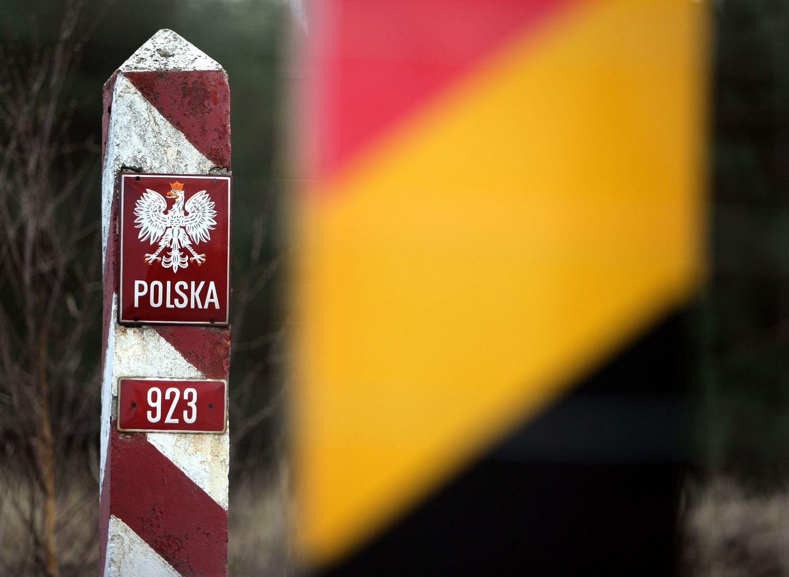 Freizügigkeit EU Grenzpfosten Polen
