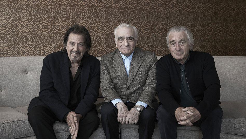 Hollywoodlegenden unter sich: Al Pacino, Martin Scorsese und Robert De Niro (v.l.n.r.)