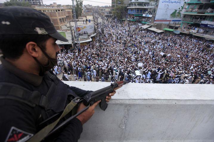 Proteste in Peschawar