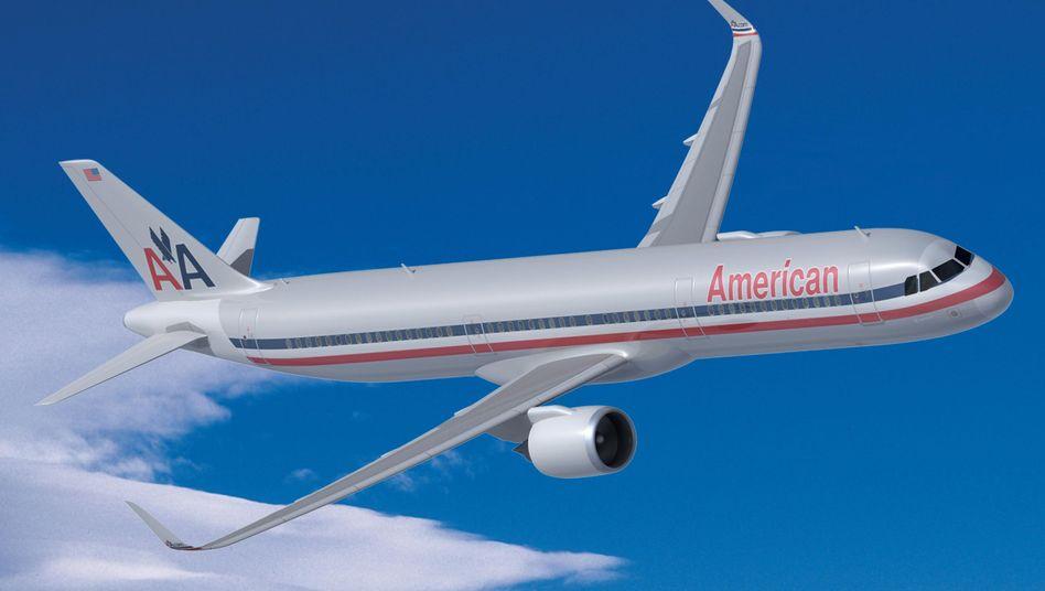 Airbus A321 mit American-Airlines-Farben (Zeichnung): Richtige Strecke, falsches Flugzeug