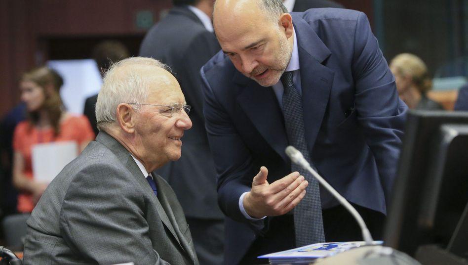 Wolfgang Schäuble und EU-Kommissar Pierre Moscovici