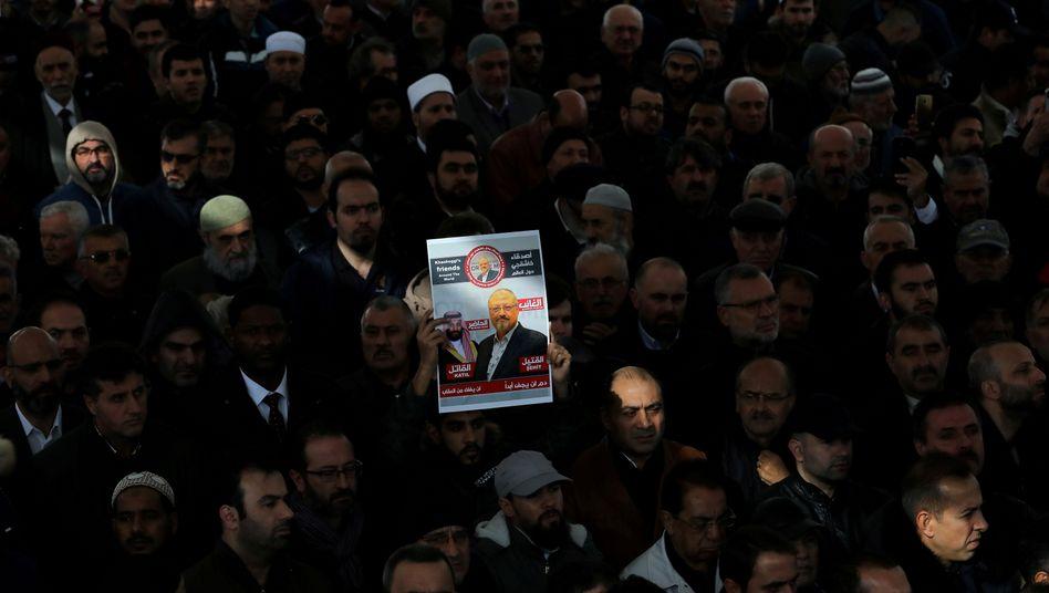 """Gebet für Jamal Khashoggi (im November 2018 in Istanbul): """"Wir werden dich betäuben"""""""