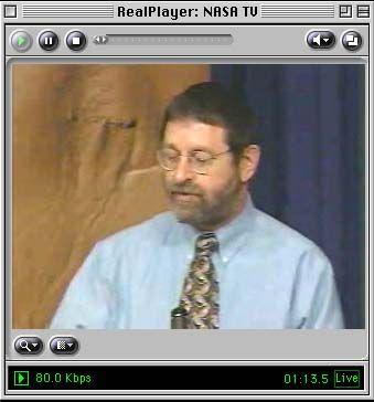 Nasa-Wissenschaftler Michael Malin während der Pressekonferenz