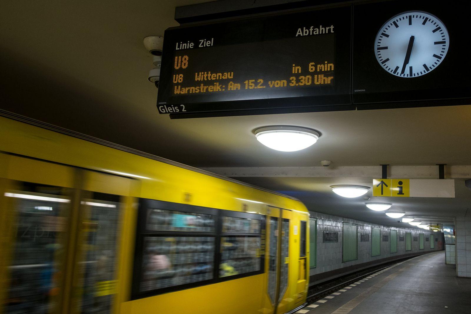 Stillstand in der Hauptstadt - BVG wird bestreikt