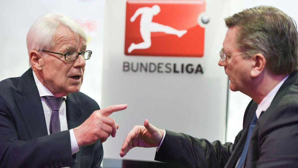 DFL-Ligapräsident Reinhard Rauball (l.), Reinhard Grindel