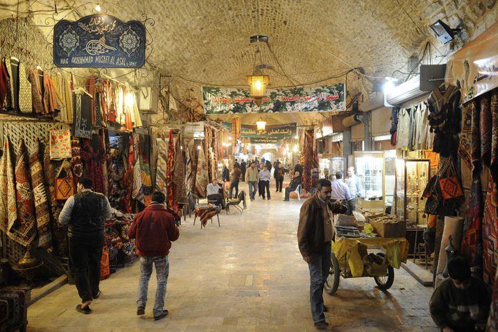 Der historische Suq von Aleppo vor dem Krieg...