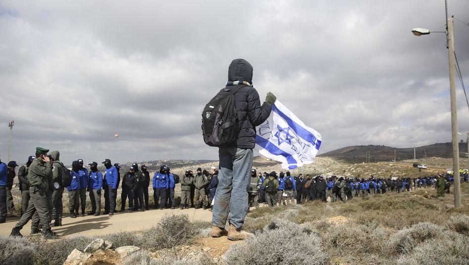 Israelischer Siedler im Westjordanland
