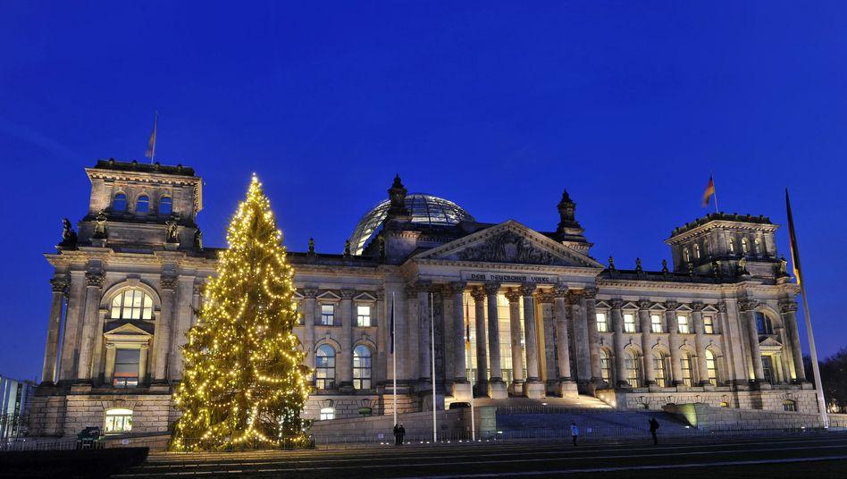 Weihnachtsbaum vor dem Reichstag: Können die Schwarz-roten das?