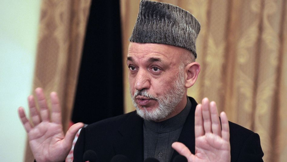 Präsident Karzai: Er behauptet, es habe nie ein Treffen mit dem Fake-Taliban gegeben