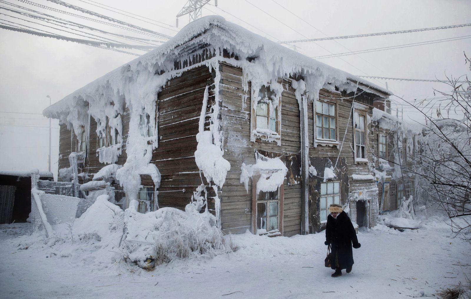 Yakutsk, which is considered to be the coldest city in the world, Russia - Jan 2014 n