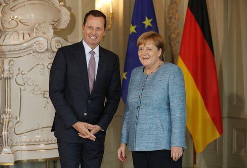 Botschafter Grenell und Kanzlerin Merkel: Selten den Austausch mit Bundesregierung gesucht