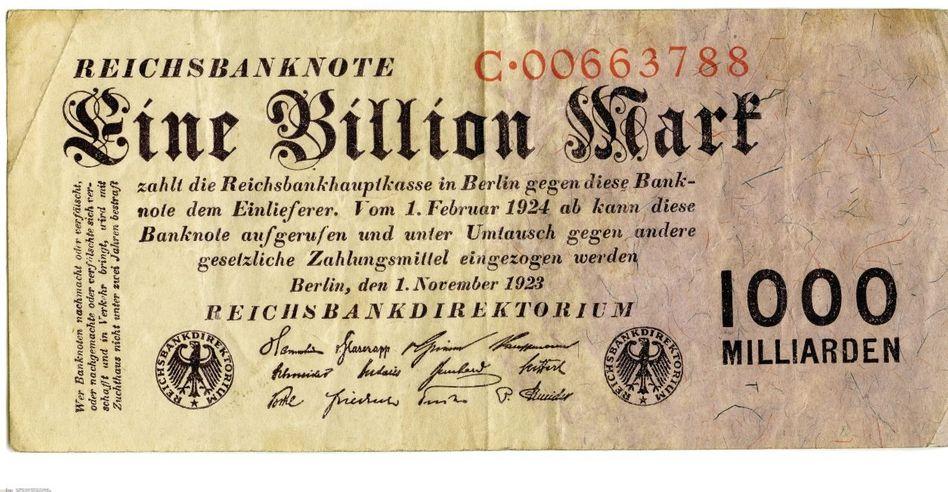 Eine Billion Mark, 1. November 1923