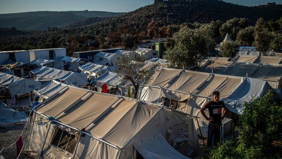 Zelte im Lager Moria auf Lesbos: immer wieder scharfe Kritik an den Zuständen