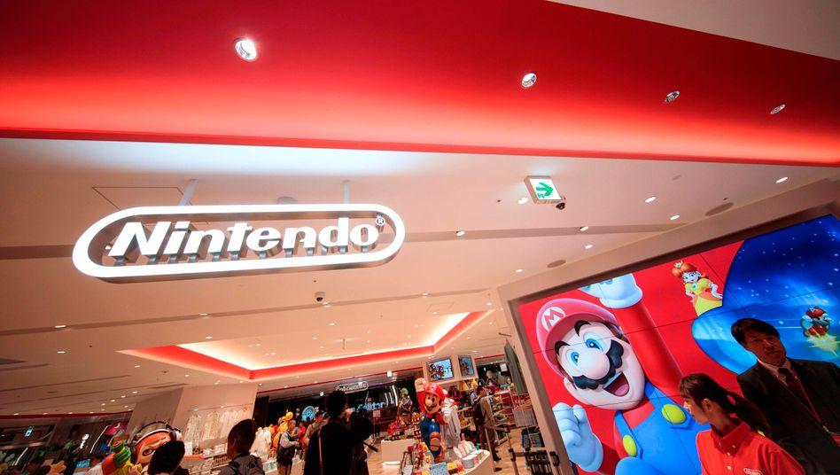Nintendo-Shop in Tokio: Super-Mario zeigt bislang keine Corona-Symptome