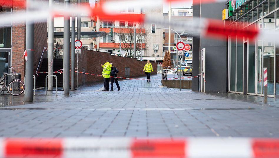 Polizei-Absperrband in Bottrop