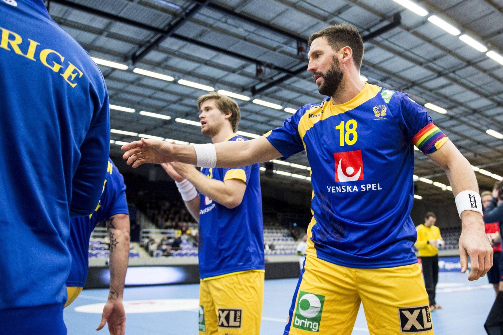EINMALIGE VERWENDUNG Tobais Karlsson/ Handball