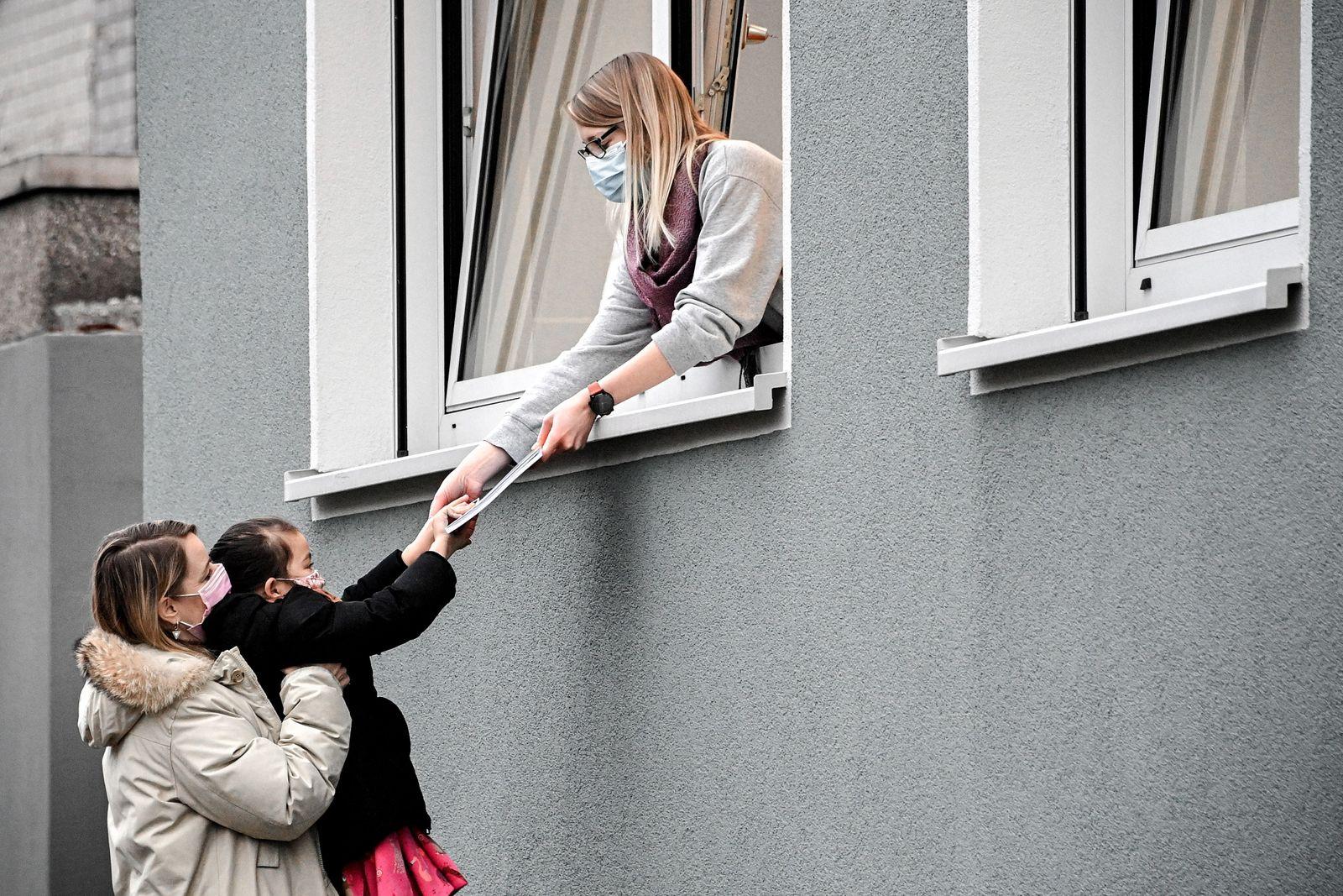 Homeschooling in Germany during nationwide lockdown, Dinslaken - 15 Jan 2021