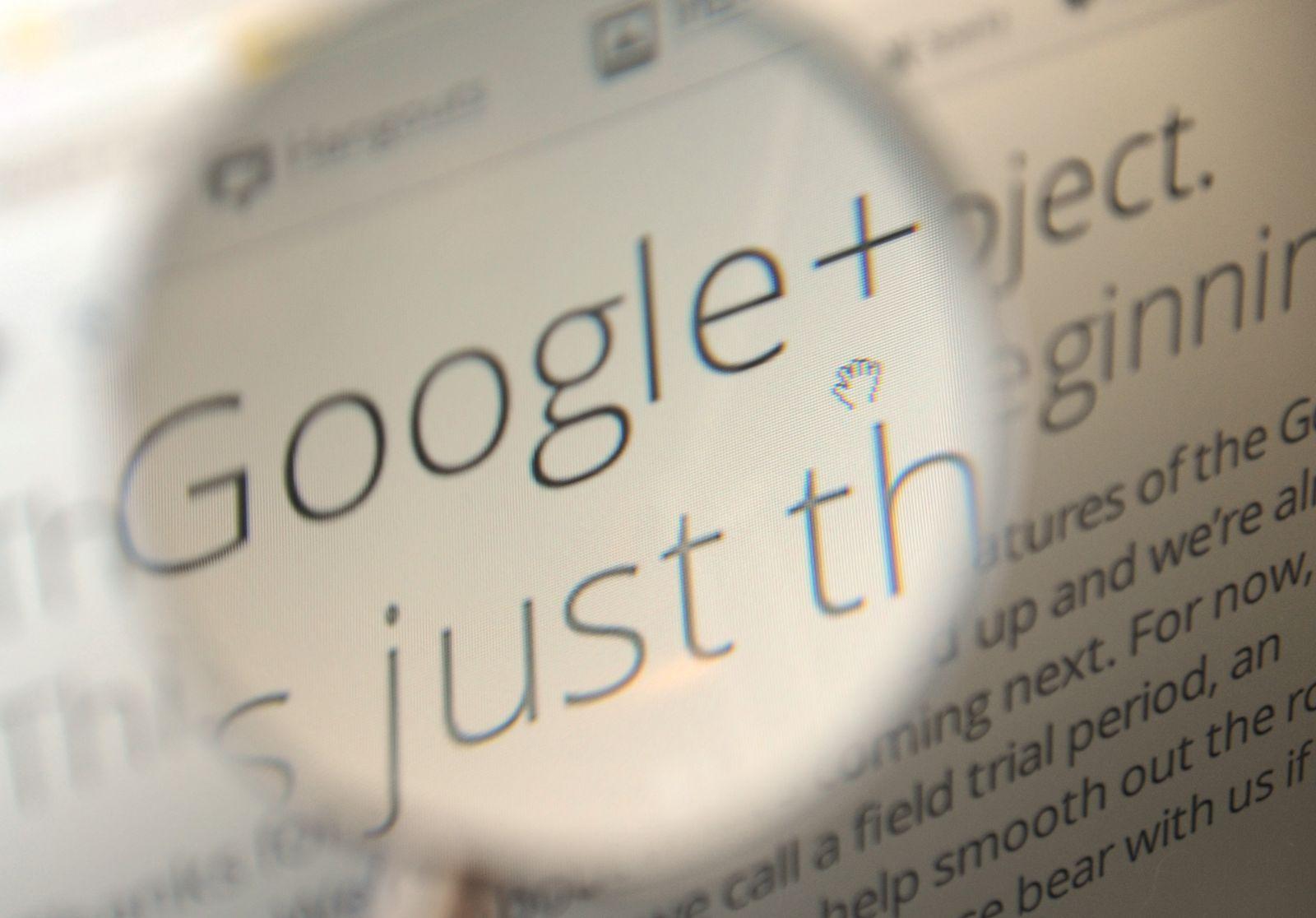 NICHT VERWENDEN Google+ / Lupe