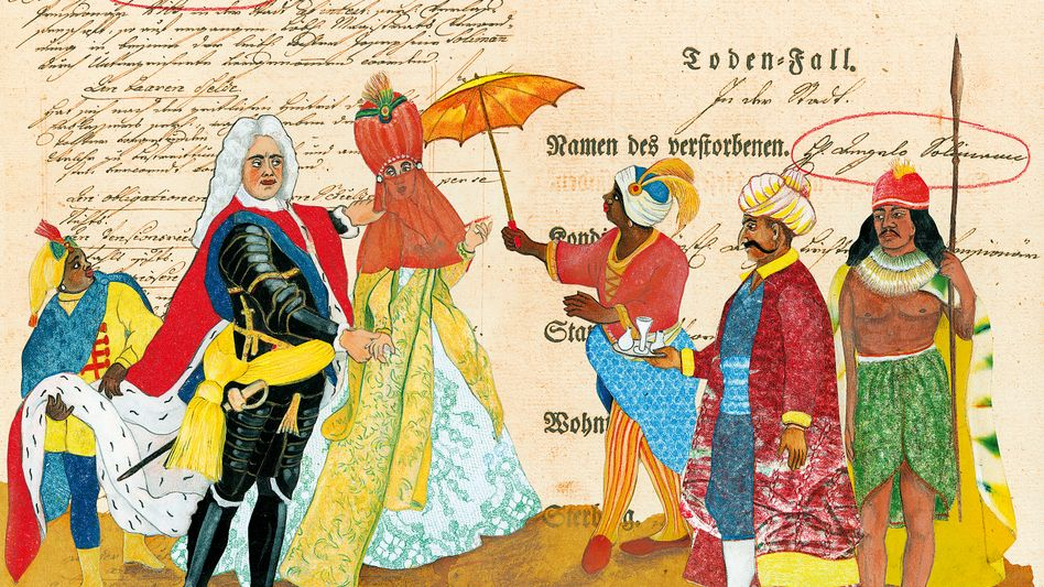Kammertürke, Hofmohr und Inselindianer: Superbe Entourage eines europäischen Fürsten