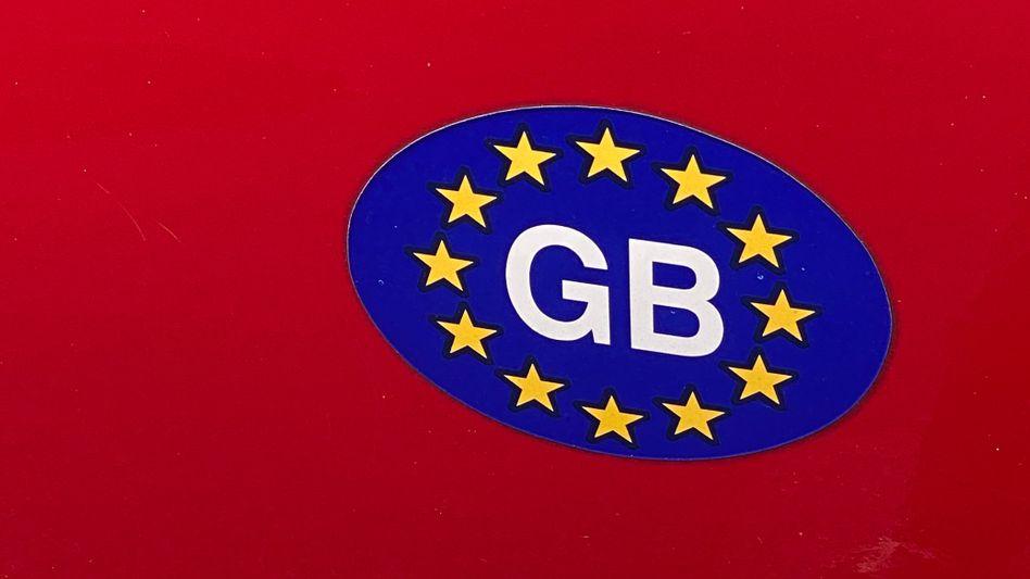 Bisheriger »GB«-Aufkleber