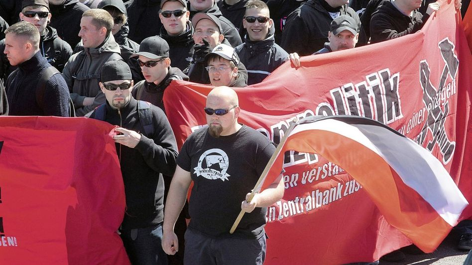 Neonazi-Demonstration in Halle (Saale)