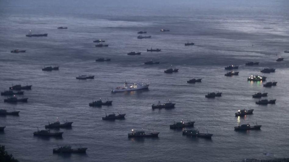 Chinesische Boote im Meer vor Südkorea: Aggressives Vorgehen