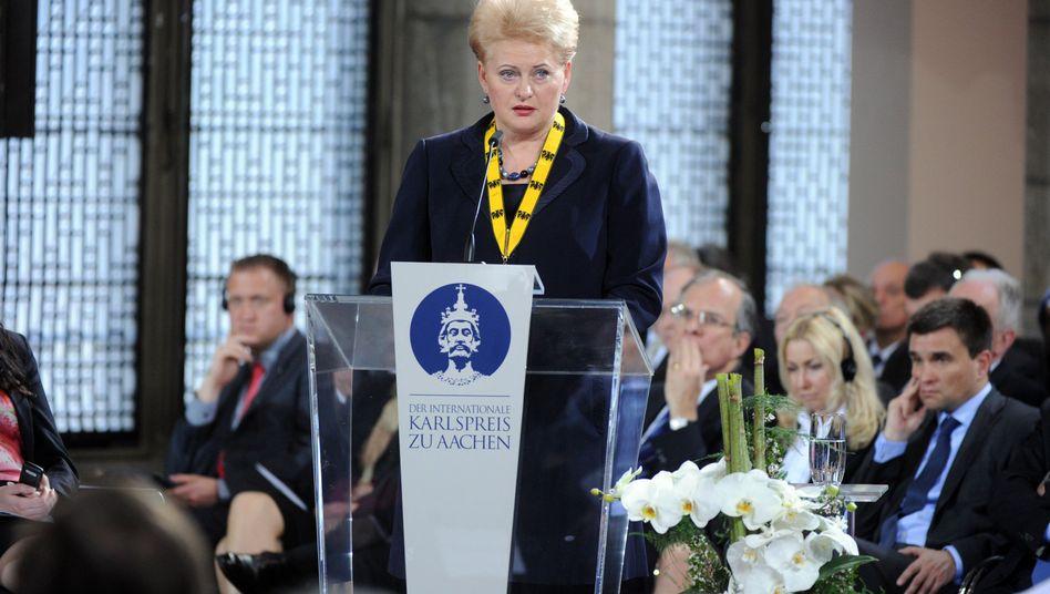 """Dalia Grybauskaite: """"Ich möchte diesen Preis den Menschen in Litauen widmen"""""""