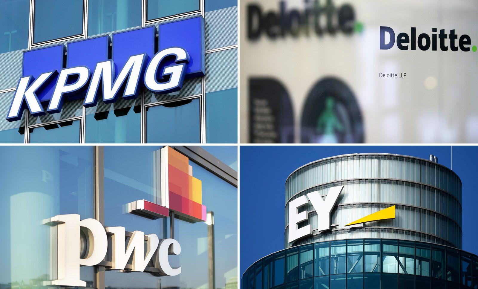 EINMALIGE VERWENDUNG Big four/ Deloitte, EY (Ernst & Young), KPMG und PricewaterhouseCoopers (PwC)